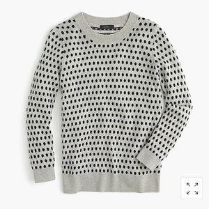 J. Crew Tippi jacquard dot sweater